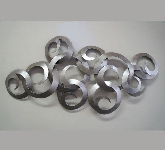 Horizon Silver Metal Wall Art