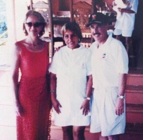 Le président Pastrana, à droite.