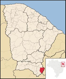 Localização de Mauriti