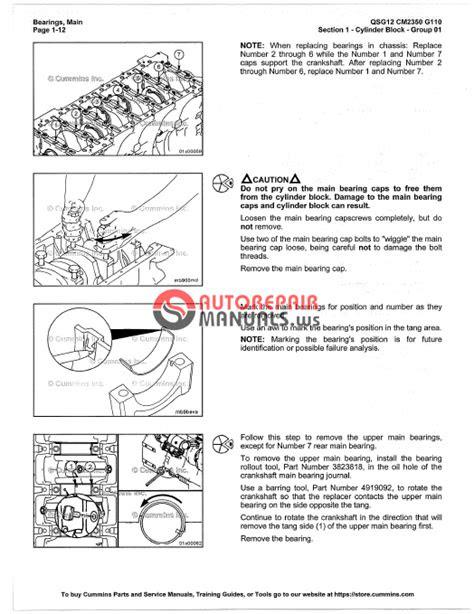 Cummins Engine QSG12 Service Manual | Auto Repair Manual