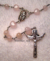 Wire Wrapped Rose Quartz Rosary