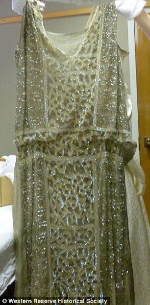 1920's short beaded gown