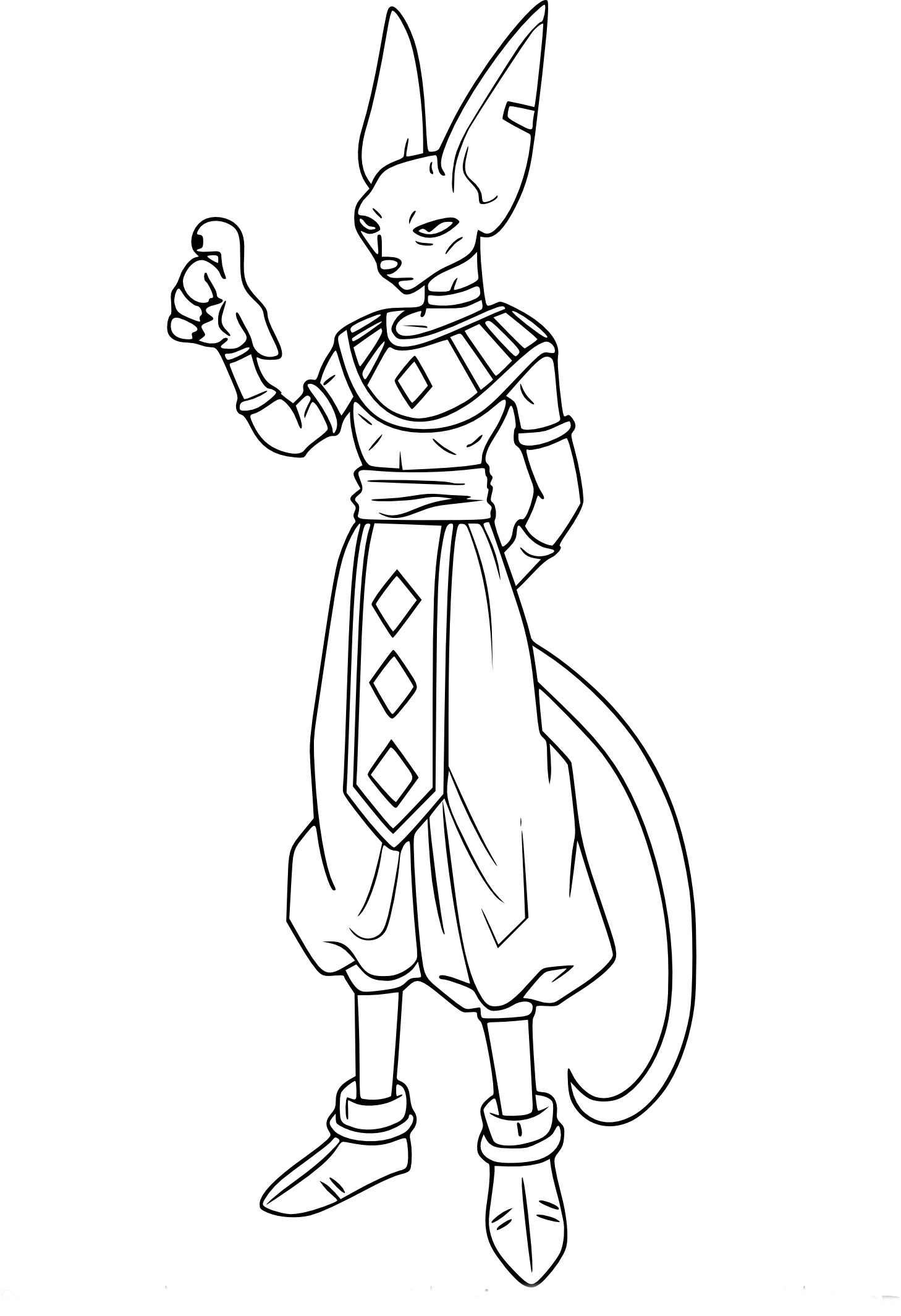 Coloriage Dragon Ball Z Beerus à Imprimer Sur Coloriages Info