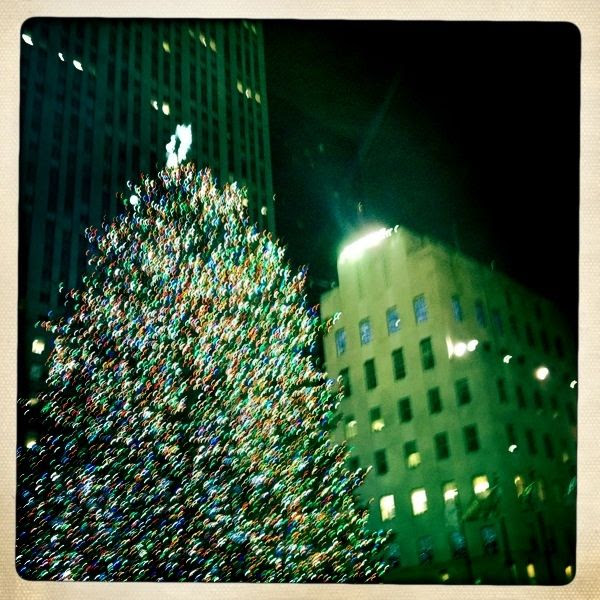 1/2/11, Visiting The Rockerfeller tree in NYC - a little holiday tradition of ours.