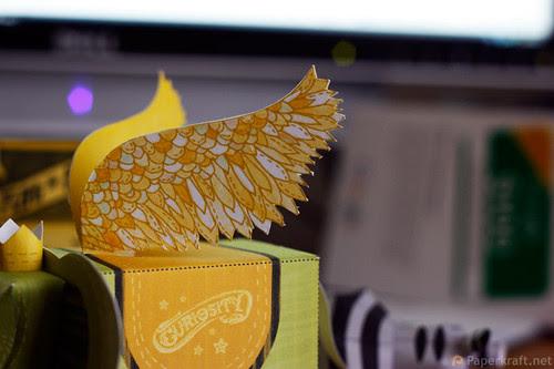 Winged Elephant Papercraft 04