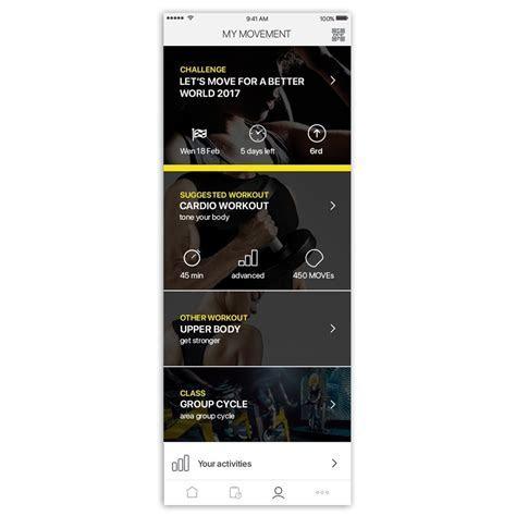 Enjoy training with mywellness app