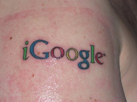 Tattoos Feet on Google Tattoos     Fan Mit Igoogle Tattoo   Suchmaschinen Blog