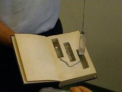hidden bottles in book