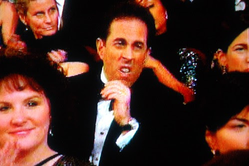 Jerry Seinfeld reacts to Al Gore at the Oscars