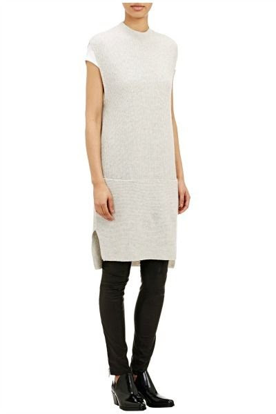 Vince Mixed-Knit Sweater Dress