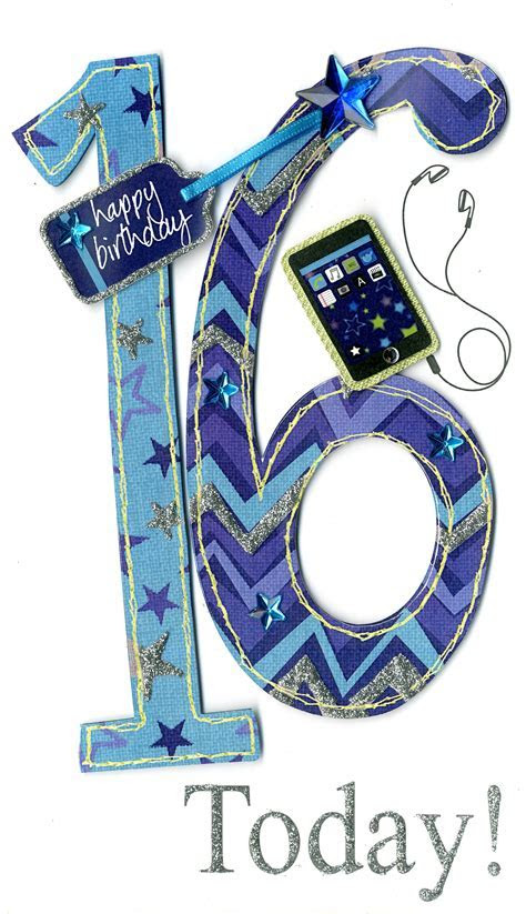 Gorgeous 16th Age 16 Birthday Greeting Card   Cards