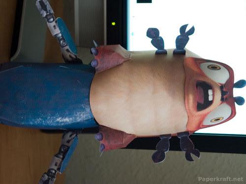 Insectosaurus on top of Alien Miner Robot