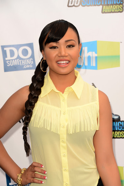 Actress/singer Cymphonique Miller arrives at the 2012 Do Something Awards at Barker Hangar on August 19, 2012 in Santa Monica, California.