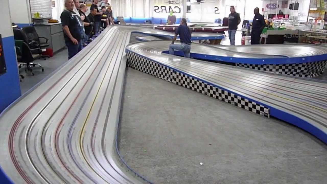 This isn't the first time we've seen such a cool slot-car setup, nor is this a new hobby by any means.Slot-car racing exploded back in the s, with slot-car venues found all over America.