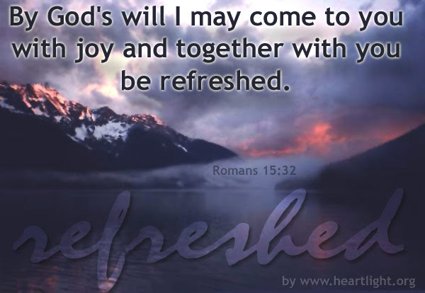 Inspirational illustration of Romans 15:32