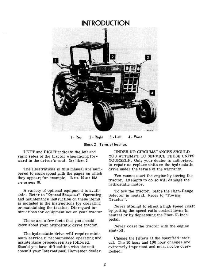 International 1066 Tractor Manual Farm Manuals Fast