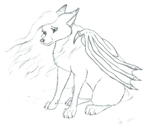 Winged Wolf Coloring Pages at GetDrawings | Free download