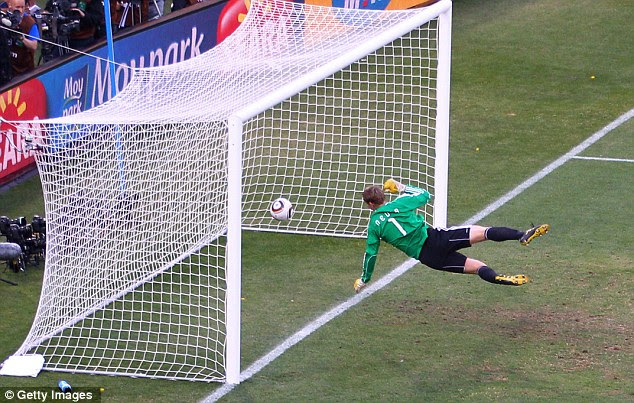Shocker: Frank Lampard was denied a clear goal during England's last-16 clash with Germany in 2010