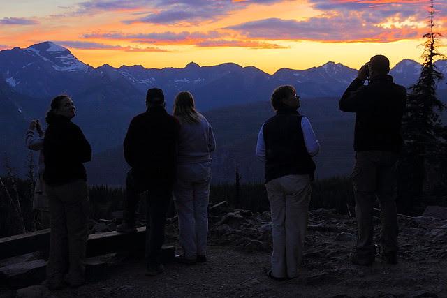 IMG_3197 Visitors Enjoying Sunset from Granite Park Chalet