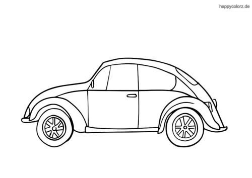 ausmalbild kleine auto  autos ausmalbilder