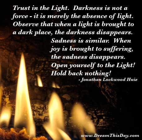 Daily Inspiration Daily Quotes Trust In The Light