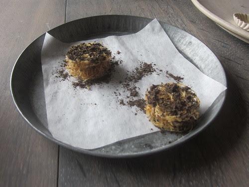 Noma - Copenhagen - August 2012 - Potato Sandwich with Duck Liver Mousse and Black Trumpet Mushrooms