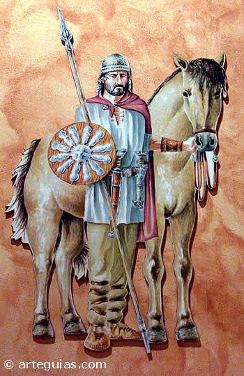 Guerrero celta de la Edad del Hierro