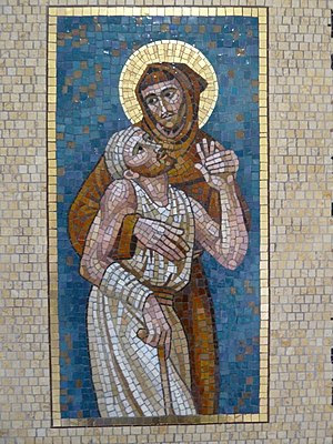 English: OFM General Curia : Mosaic Saint Fran...