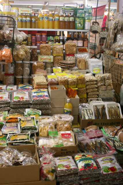 All sorts of dried food and snacks