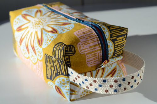 Lined Box Pouch by Poppyprint