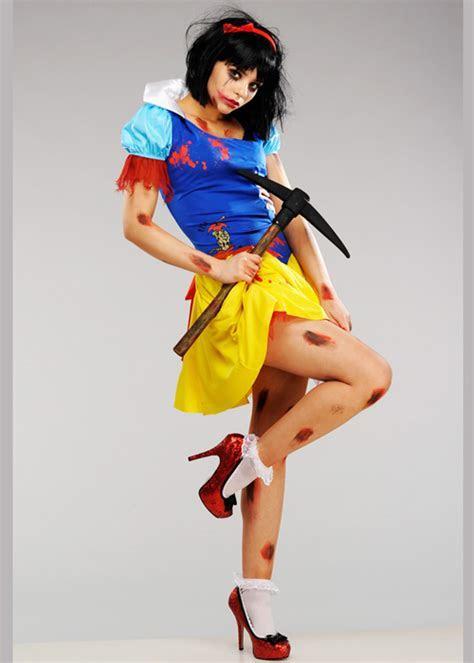 Womens Dead Zombie Snow White Costume
