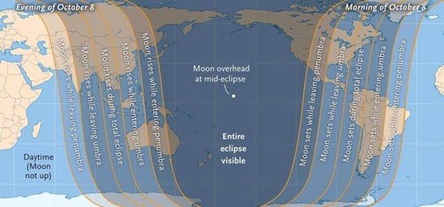 Visibilidad eclipse octubre 2014