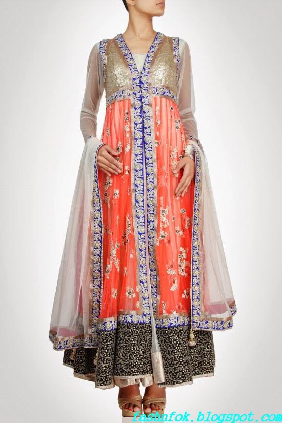 Anarkali-Gorgeous-Bridal- Wedding-Ankle-Length-Dress-by-Designer-Kiran-&-Shruti-Aksh-3