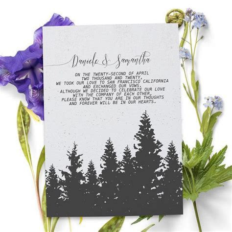 Holiday inspired elopement announcement card that you can
