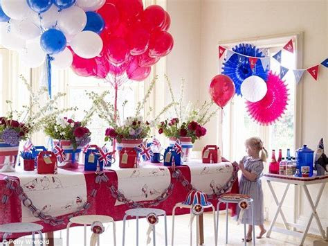 Party Theme Ideas red white and blue   go for a classic
