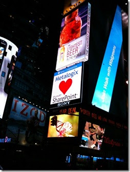 Metalogix loves SharePoint Times Square