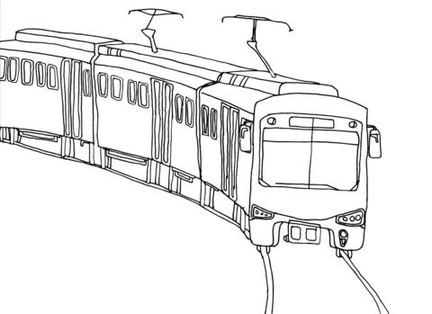 Coloriage Train De Ville Coloriages à Imprimer Gratuits