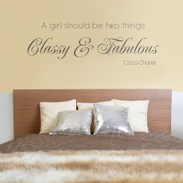 Classy \u0026 Fabulous  Quote  Wall Decals Stickers Graphics