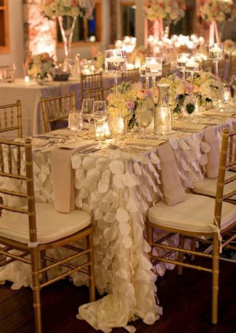 Petal Tablecloth Ivory White Blush Pink   Ready To Ship