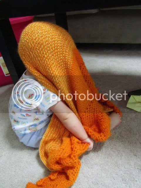 Morning Glory shawl