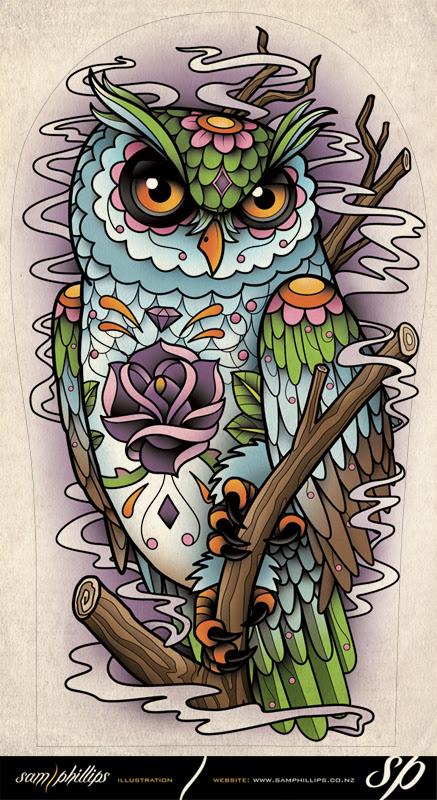 Best Tatto Design: Sugar Owl Tattoo Designs