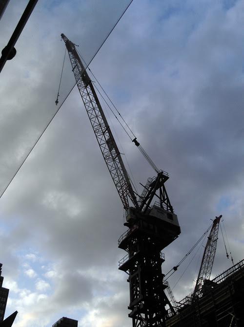construction crane, Manhattan, NYC