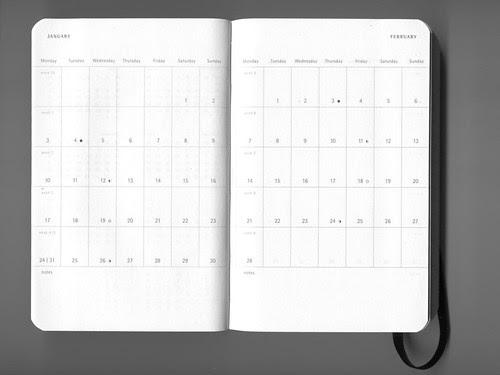 MOLESKINE 月行事曆