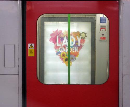 Lady Garden Tube Ad from door