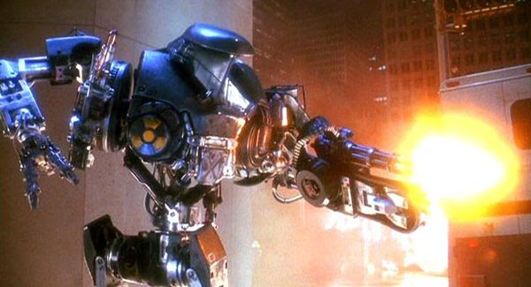 Cain opens fire in ROBOCOP 2.