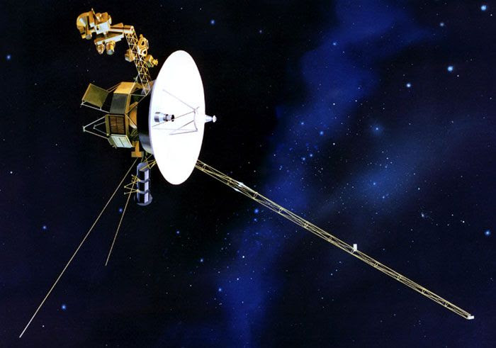 An art concept of the Voyager 1 spacecraft.