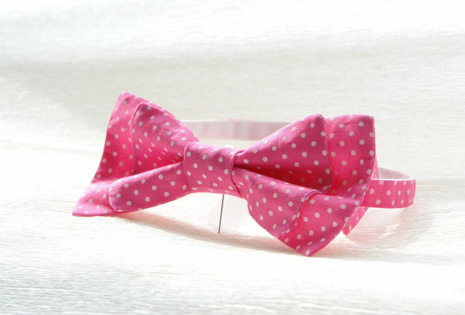 Bow-tie Pink Micro Polka Dot Boys bow tie. Boys birthday gift. school