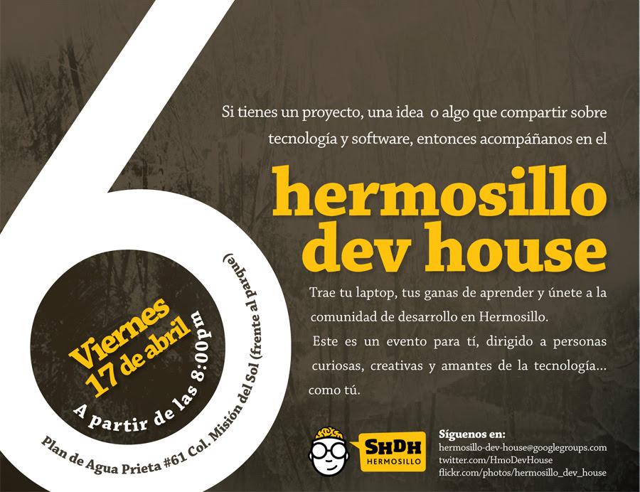 Flyer 6to. DevHouse