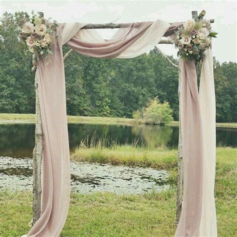 Ceremony arch simple blush look   CEREMONY DETAILS in 2019
