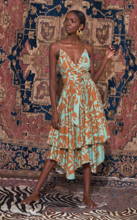 Johanna Ortiz Sweet Harmony Cotton V-Neck Dress